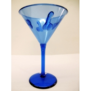 Blue Plastic Cocktail Glasses - Hens Night Toys