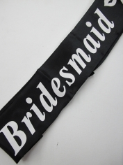 Black Bridesmaid Sash - Hens Night Toys