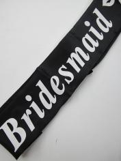 Black Bridesmaid Sash - Hens Night Toys