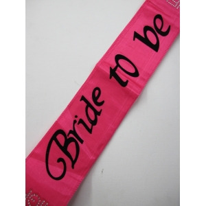 Pink Bride To Be Sash - Hens Night Toys