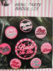 Hens Night Badges - Novelty Toys