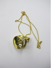 Gold Pocket Watch - Bling Necklaces
