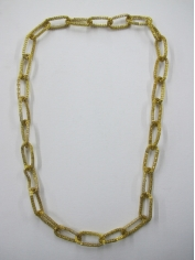 Long Gold Bling Necklace 3