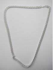 Extra Long Silver Bling Necklace