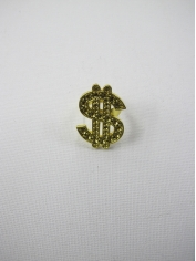 Gold Bling Dollar Sign Rings