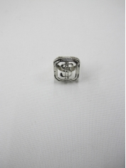 Silver Bling Dollar Sign Rings
