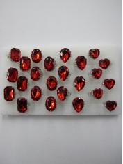 Red Diamond Fashion Rings