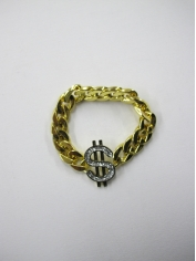 Gold Bling Dollar Sign Bracelets