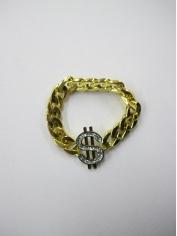 Gold Bling Dollar Sign Bracelets