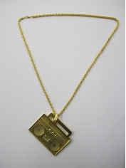 Gold Boombox Bling Necklaces