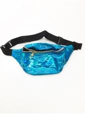 Metallic Blue Bum Bag - 80's Costumes