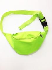 Neon Green Bum Bag - 80's Costumes