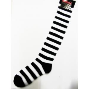 Black/White Striped Knee-high Socks