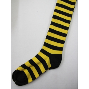 Black/Yellow Striped Knee-high Socks