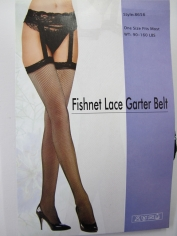 Black Lace Garter Belt Fishnet Stocking