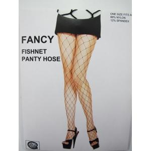 Large Black Pantyhose - Fishnet Stocking