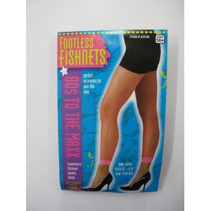 Neon Pink Footless Fishnet Stocking
