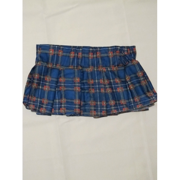 blue school gir skirt womens costume