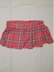 Pink School Gir Skirt - Womens Costume