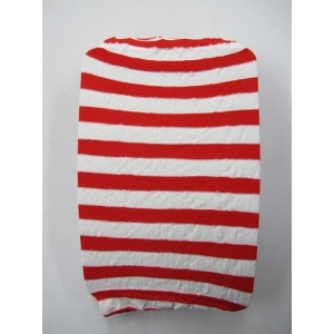 Red White Striped Thigh High Stocking