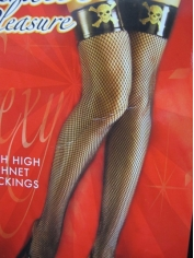 Pirate Thigh High Fishnet Stockings