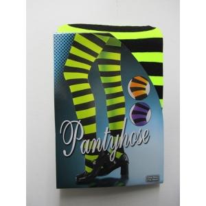 Green Black Striped Pantyholes