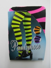 Pink Black Striped Pantyholes