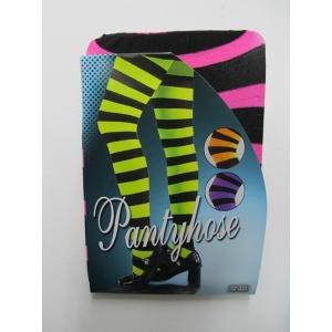 Pink Black Striped Pantyholes