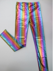 Metallic Rainbow Coloured Leggings