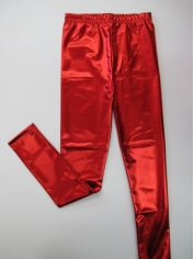 Metallic Red Legging
