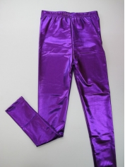 Metallic Purple Leggings