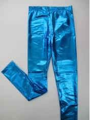 Metallic Blue Leggings