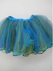 Deluxe Blue Glitter Tutu - Mardi Gras Costumes