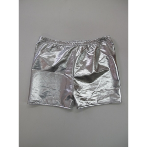 Metallic Silver Shorts