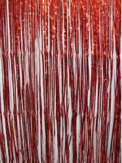 Red Metallic Door Curtain - Party Decorations