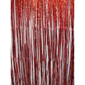 Red Metallic Door Curtain Party Decorations