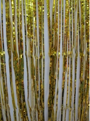 Gold Metallic Door Curtain - Party Decorations