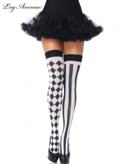 Harlequin Thigh Highs - Costume Stockings