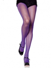 Purple Fishnet Pantyhose - Costume Stockings