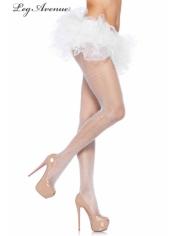 Fishnet Pantyhose White - Leg Avenue Stockings