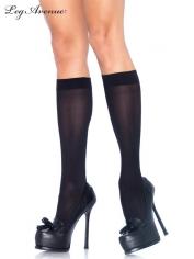 Nylon Opaque Knee Highs Black - Leg Avenue Stockings