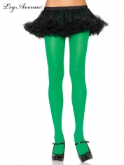 Nylon Tights Green - Leg Avenue Pantyhose and Tights
