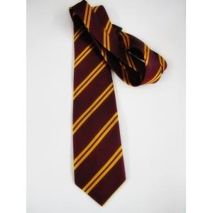 School Tie Maroon Gold - Harry costume