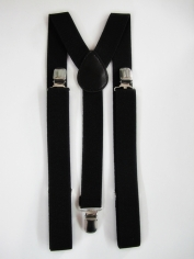 Black Suspenders - Costume Accessories