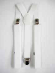 White Suspenders - Costume Accessories