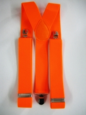 Orange Suspenders - Costume Accessories