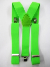 Green Suspenders - Costume Accessories