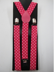 Pink White Dots Suspender