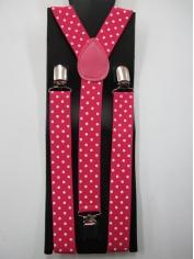 Pink White Dots Suspender