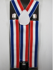 Red White and Blue Suspenders